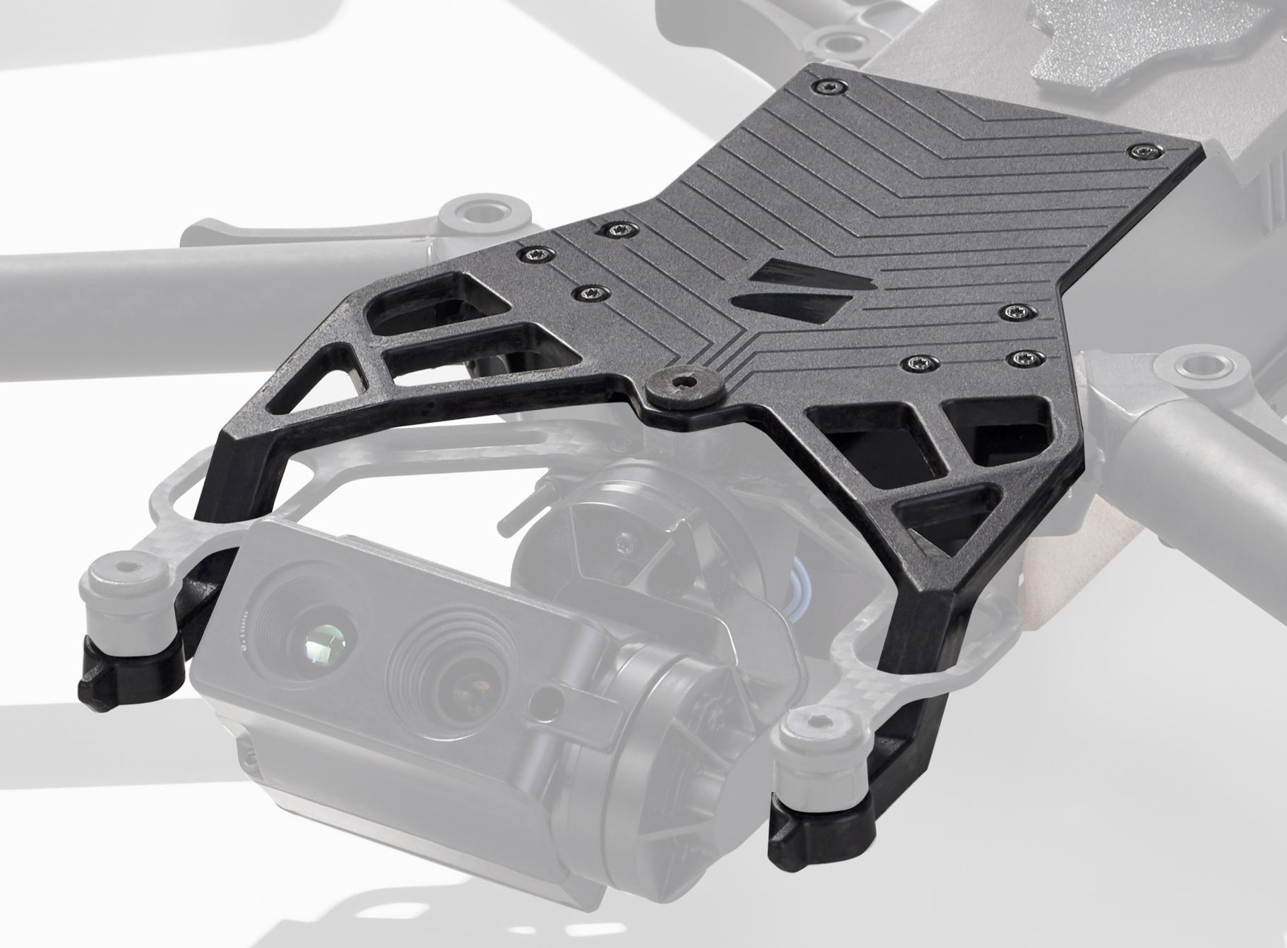 Arris Multimaterial Drone Bracket for Radio Frequency transparency and Mechanical Performance