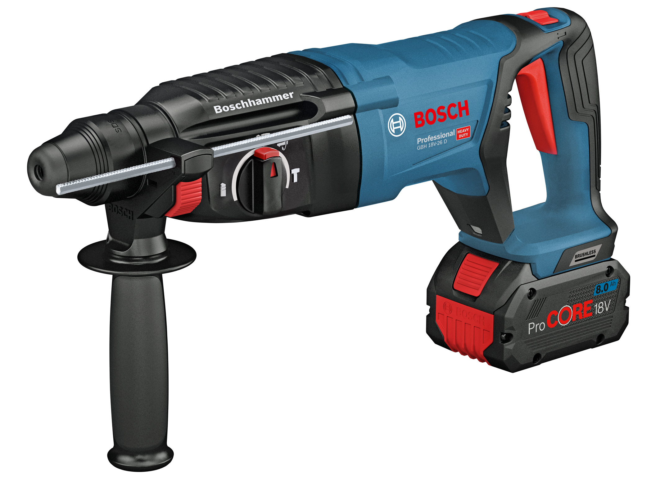 As powerful as the corded equivalent: 18 volt rotary hammer GBH 18V-26 D Professional from Bosch for professionals