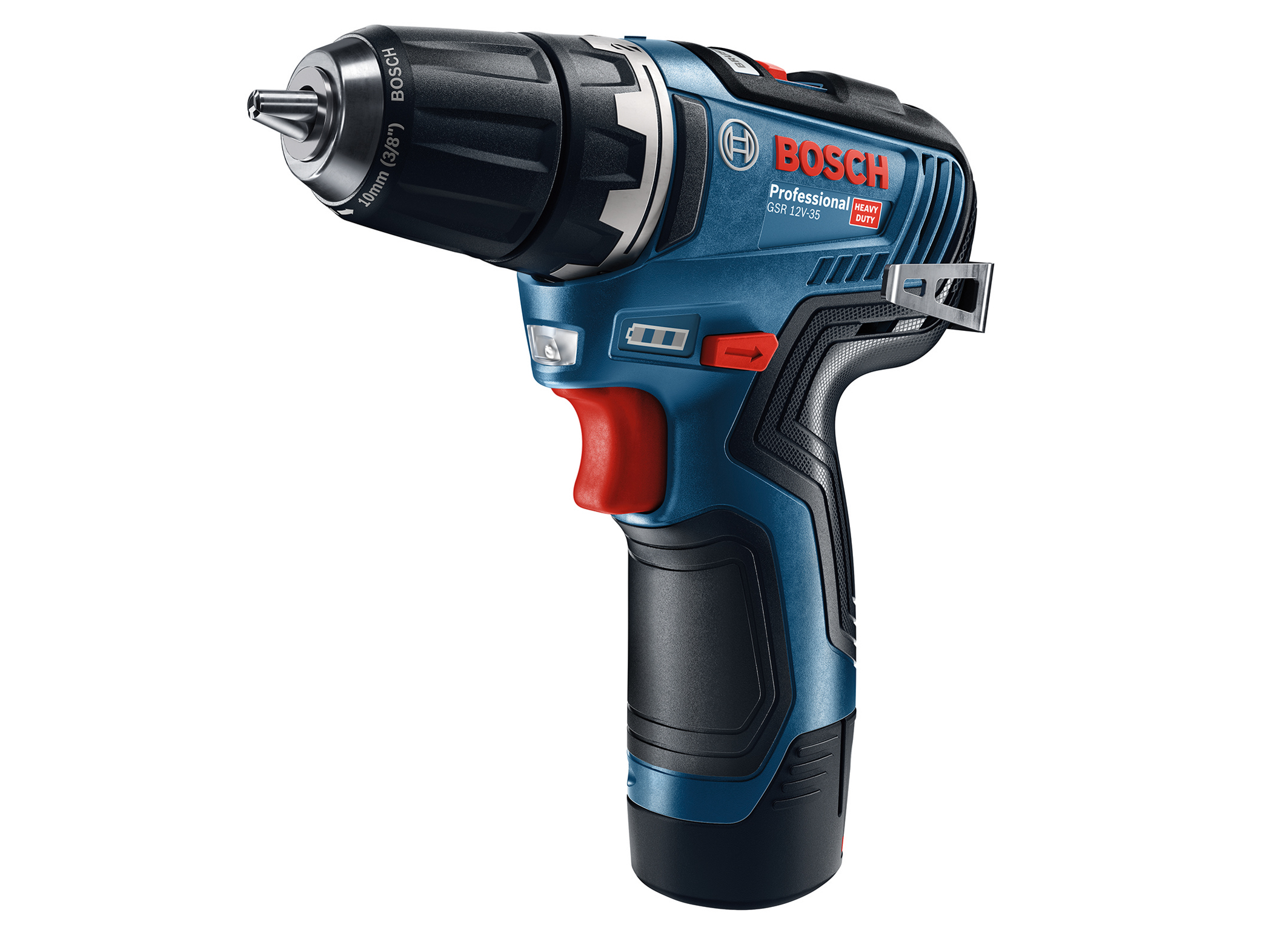 The new GSR 12V-35 Professional cordless drill/driver: Additional fixed chuck version for even more precise drilling
