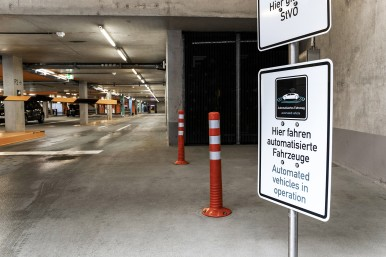 The parking garage of the future with automated valet parking