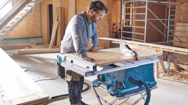 Best cutting capacity in its class: New Bosch table saw for professionals