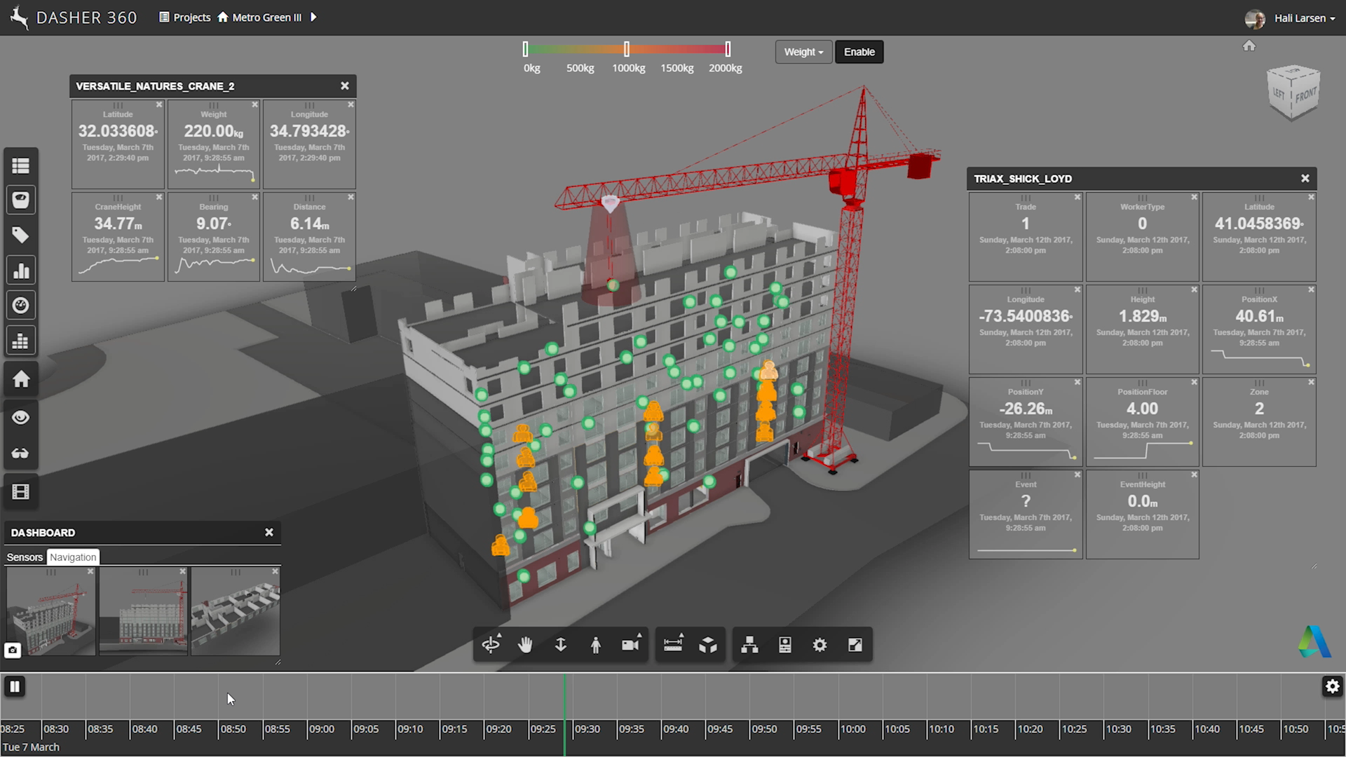 Illustration of Versatile Natures' software for construction site visualization