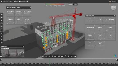Ilustration der Versatile Natures Software zur Baustellenvisualisierung