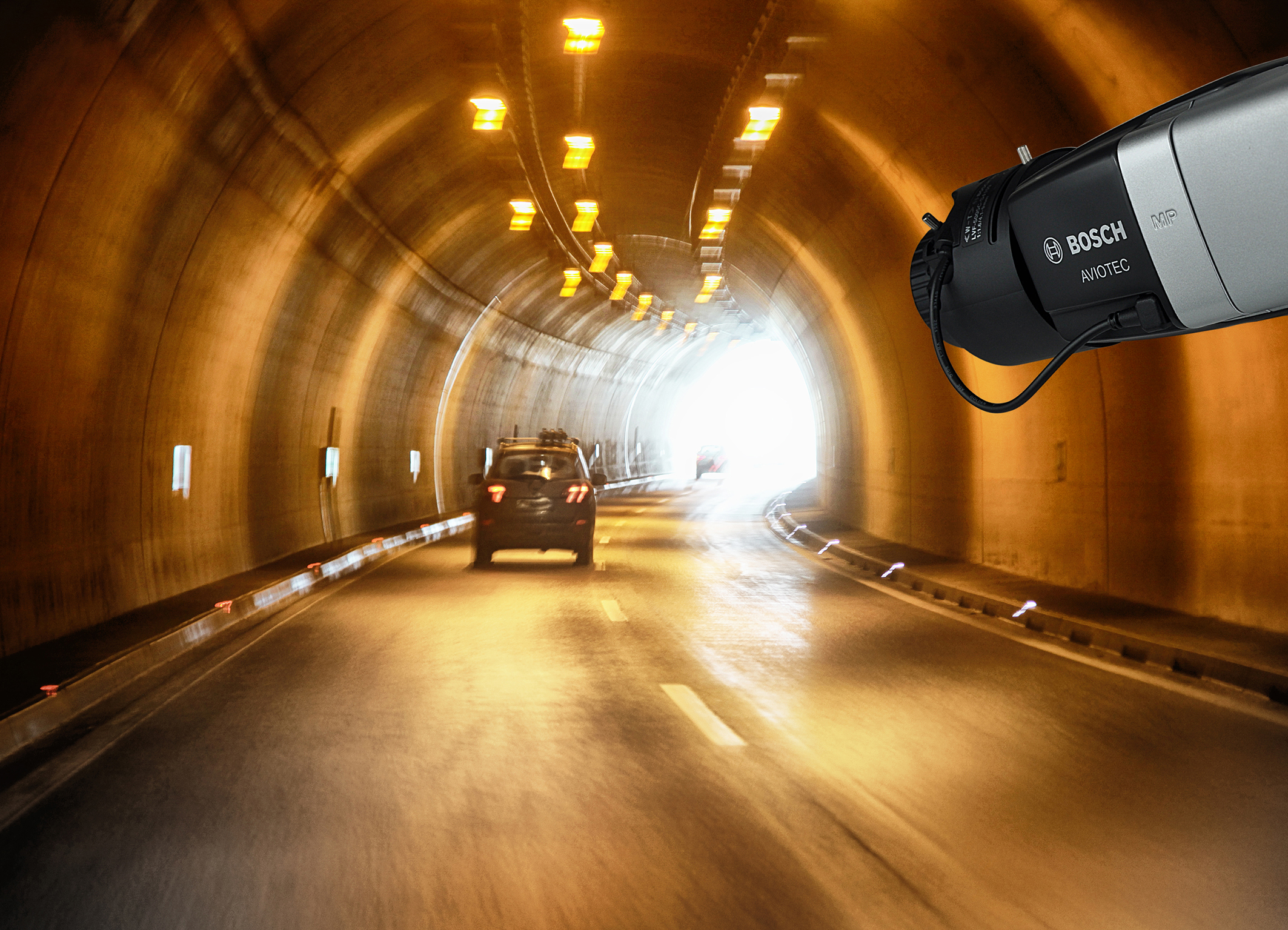 Video-based fire detection AVIOTEC from Bosch optimized for tunnels