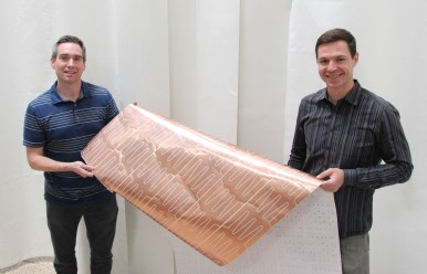 Developing innovations for the electronics industry: Kevin Coakley (left) and Malcolm Brown