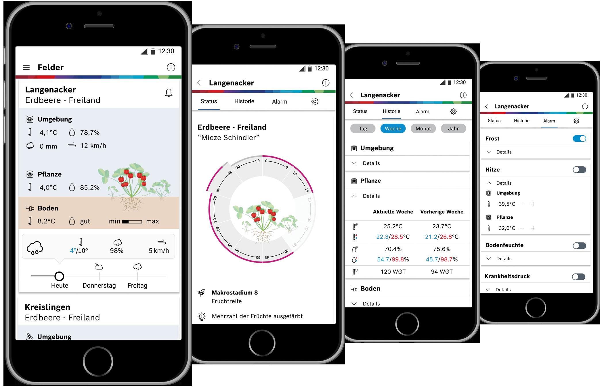 Deepfield Connect Field Monitoring App. Der treue Begleiter durch die ganze Saison.