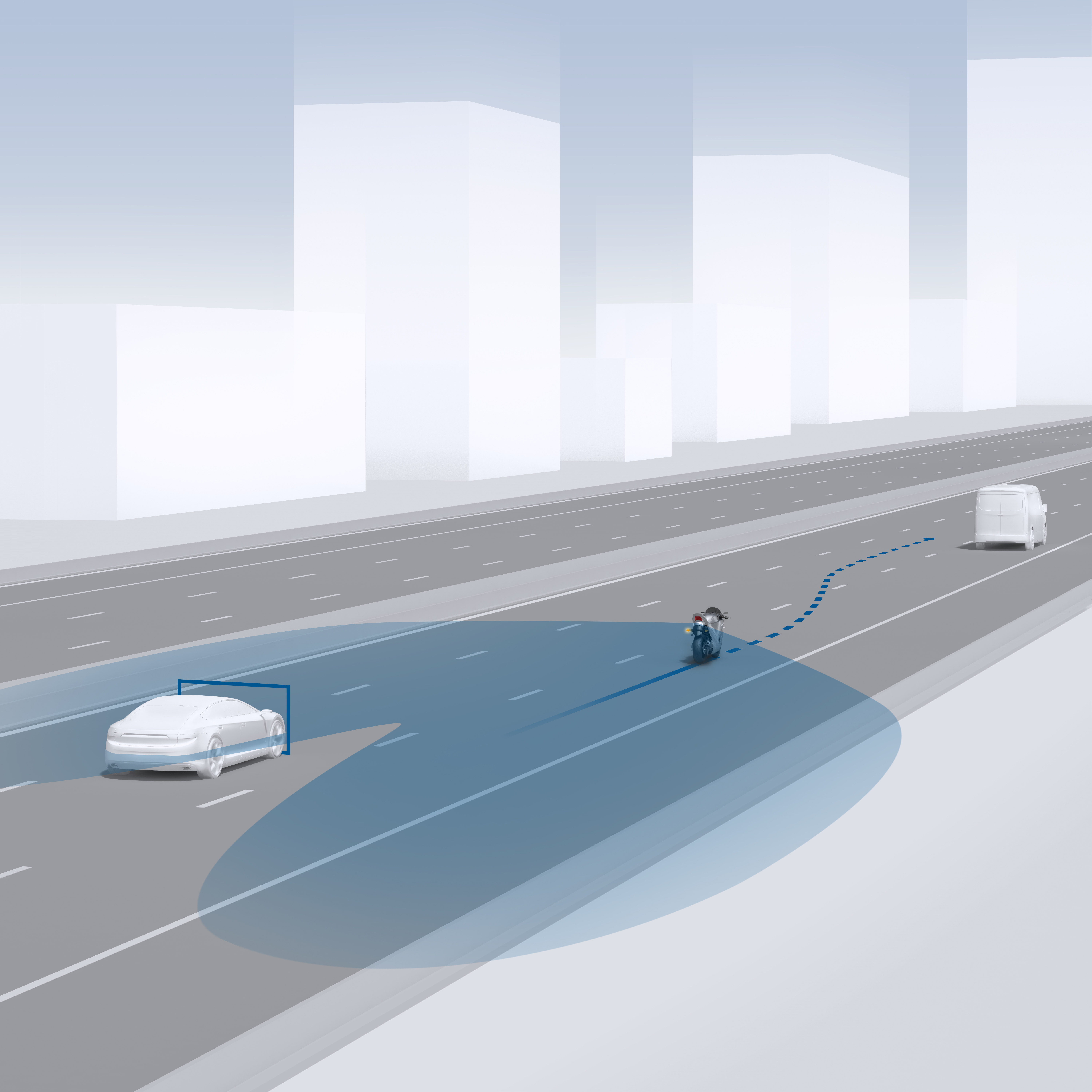 Blind Spot Detection Motorcycle
