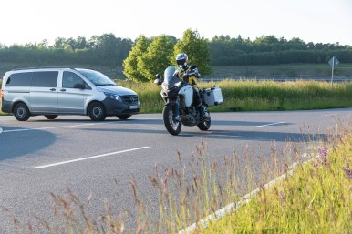 Bosch's a prototype motorcycle-to-vehicle communication system will reduce the risk of accidents