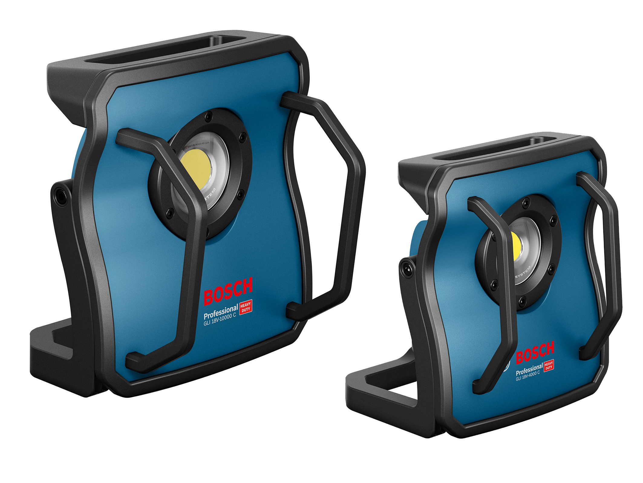 New cordless Bosch floodlights for professionals:  GLI 18V-10000 C Professional and GLI 18V-4000 C Professional