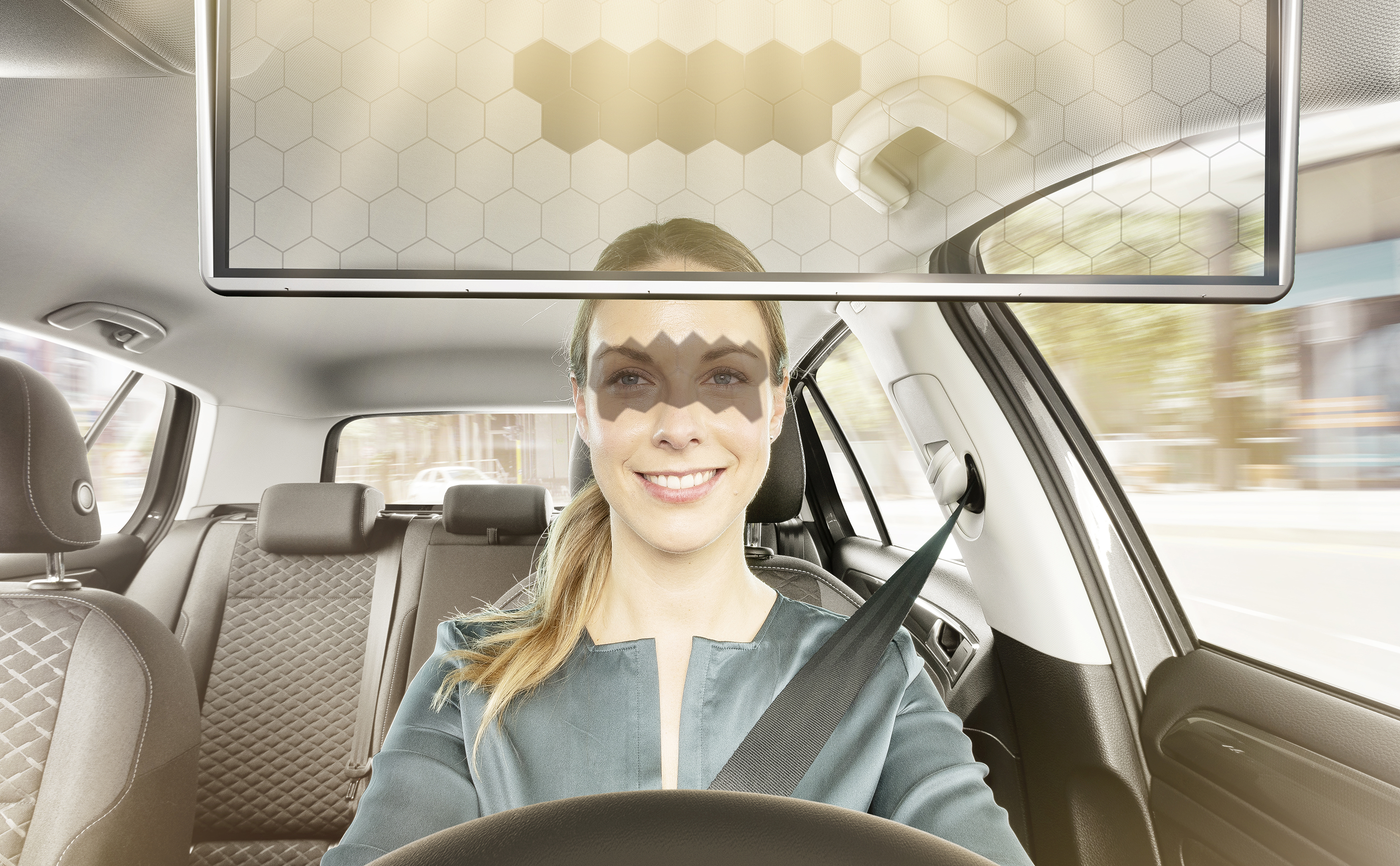 Bosch's new Virtual Visor greatly improves driver safety and comfort