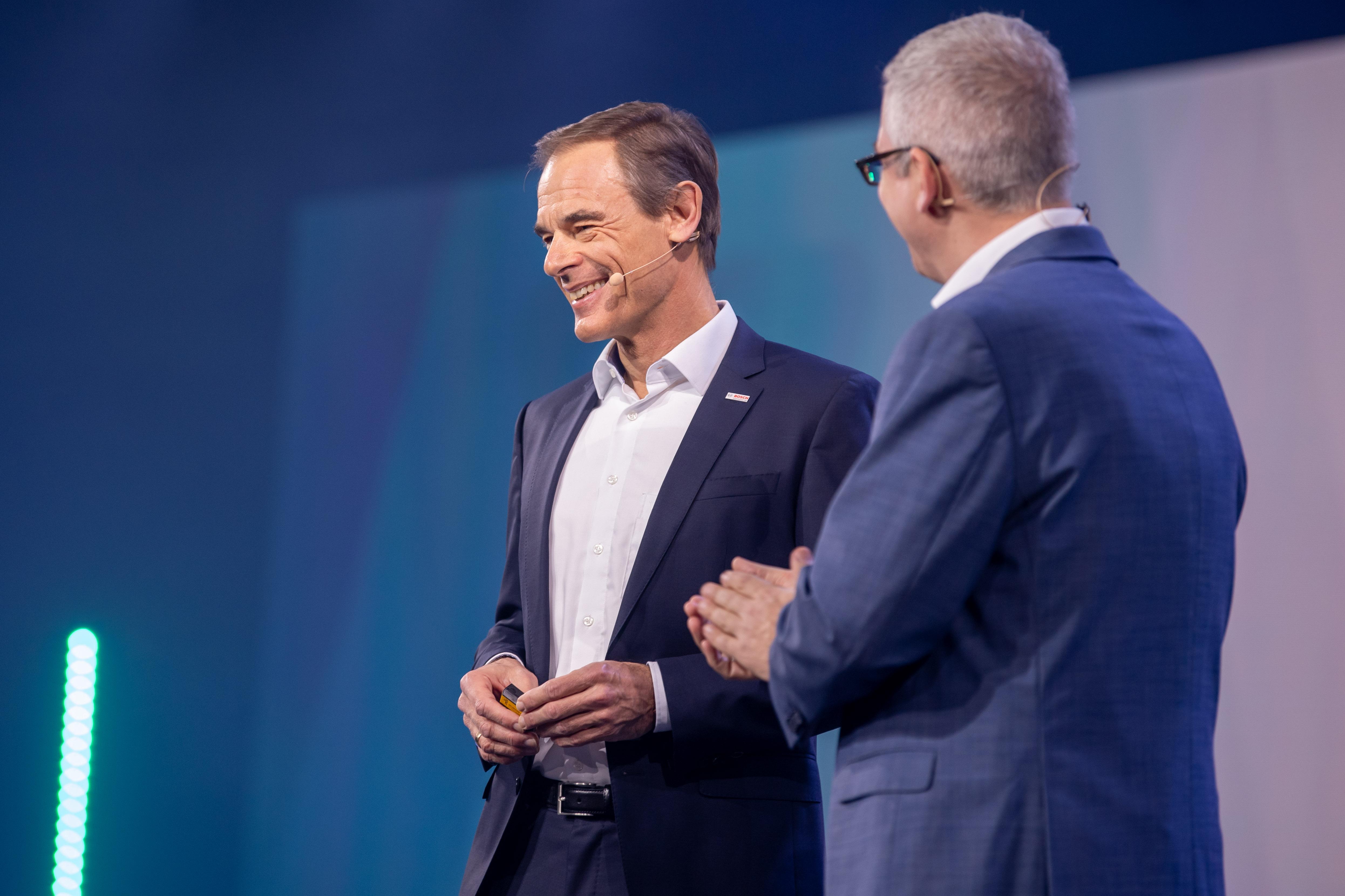 Bosch-CEO Dr. Volkmar Denner bei der Bosch ConnectedWorld 2020 in Berlin.