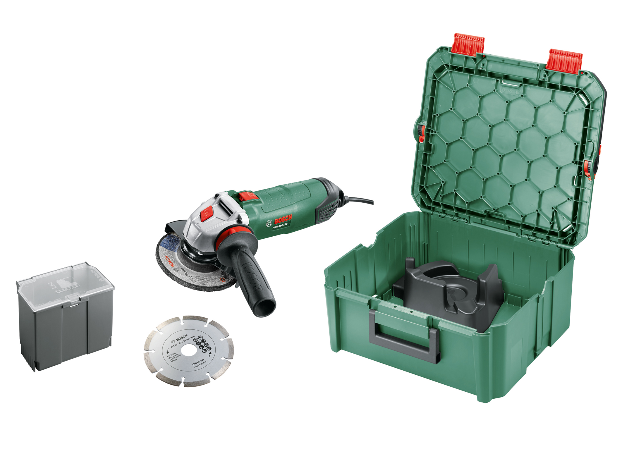 Most powerful angle grinder: PWS 850-125 in the SystemBox size M