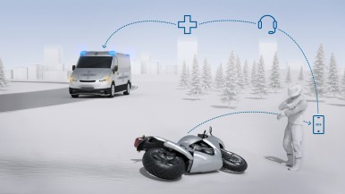 With the connected emergency call solution for motorcycles Bosch is speeding up the rescue process.