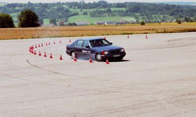 Testing ESP®  on the Schwieberdingen test route in 1995