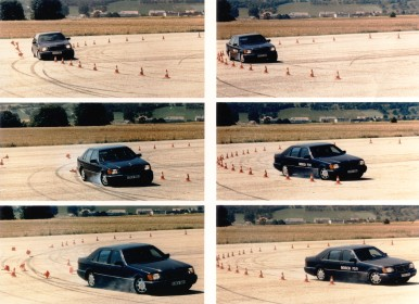 ESP®-Erprobung auf der Teststrecke in Schwieberdingen, 1995