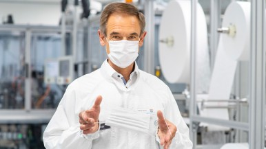 Coronavirus: Bosch puts fully automated mask-production lines into operation