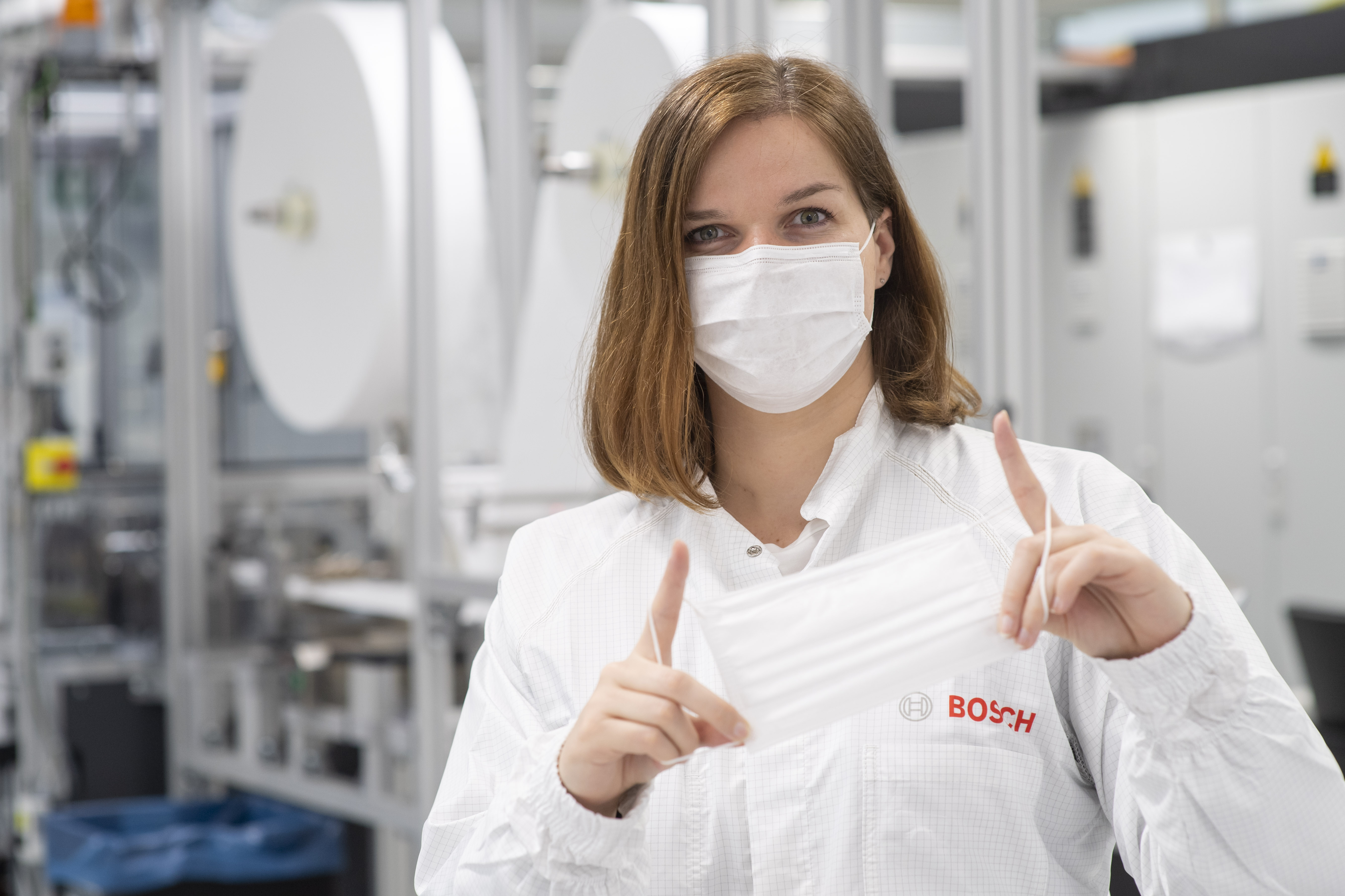 Bosch's special-purpose machinery unit develops a system specifically to manufacture face masks.