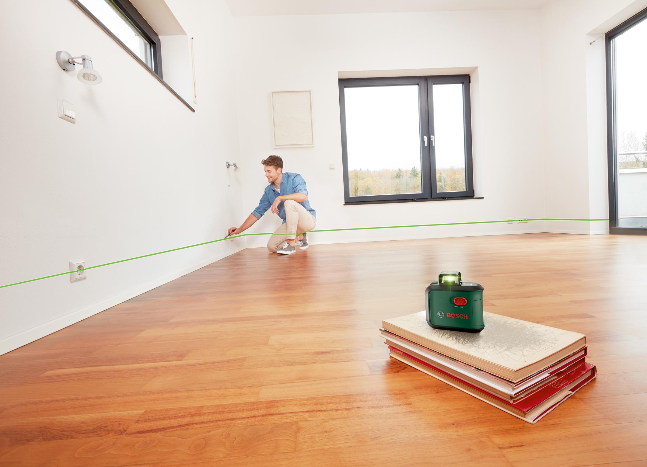 Rundum exakt ausrichten: Neue 360 Grad-Linienlaser von Bosch für Heimwerker