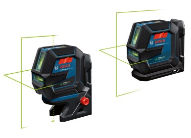 Green laser diodes for optimum visibility:  New combi and line lasers from Bosch for pros