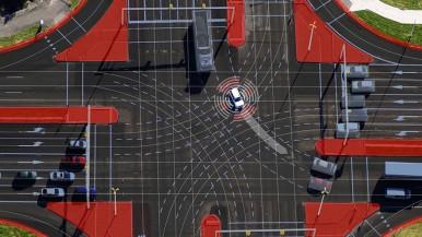 Wie Autos und Infrastruktur beim automatisierten Fahren in der Stadt zusammenarbeiten