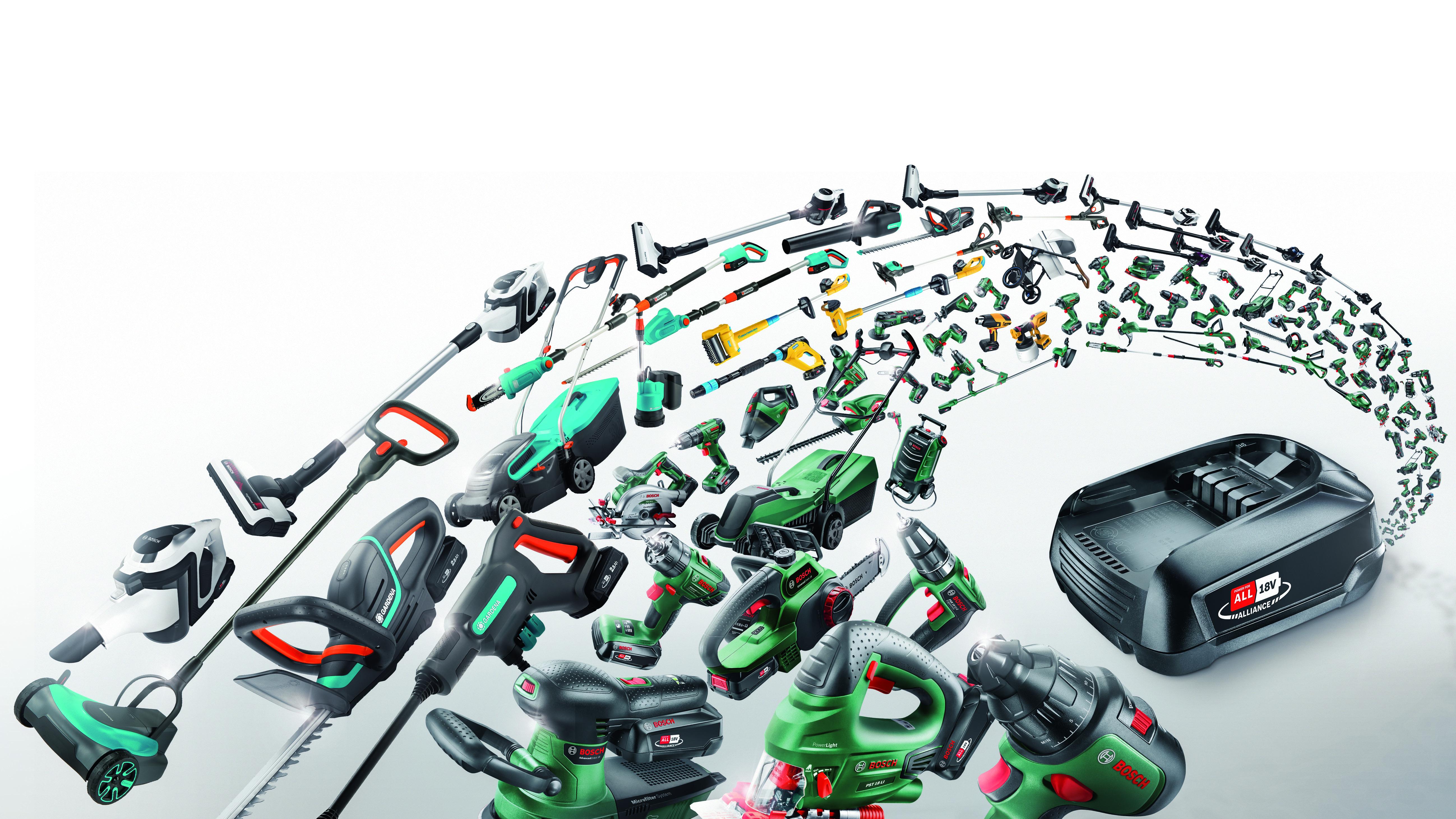 Geld, Platz und Zeit sparen mit einem Akku für viele Marken: Bosch und Gardena gründen Power for All Alliance