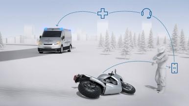 Help Connect vereint automatische Unfallerkennung, Notruffunktion und persönlich ...