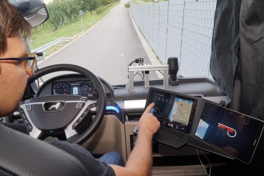 Virtual companion increases safety for trucks on the road
