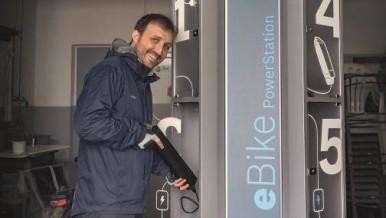 PowerStations für eBiker auf dem Alb-Crossing