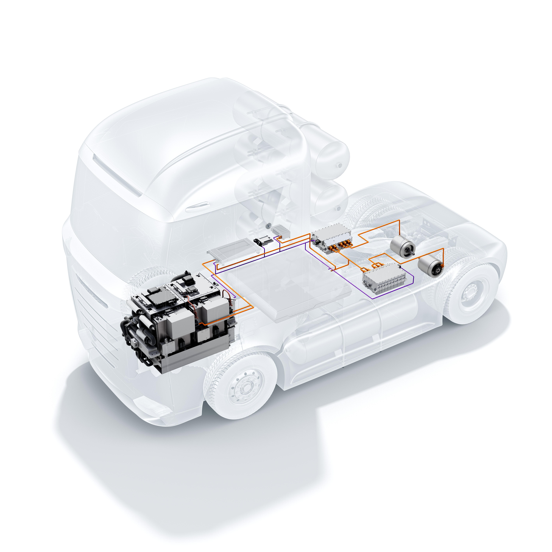 eDistanceTruck powertrain solutions from Bosch