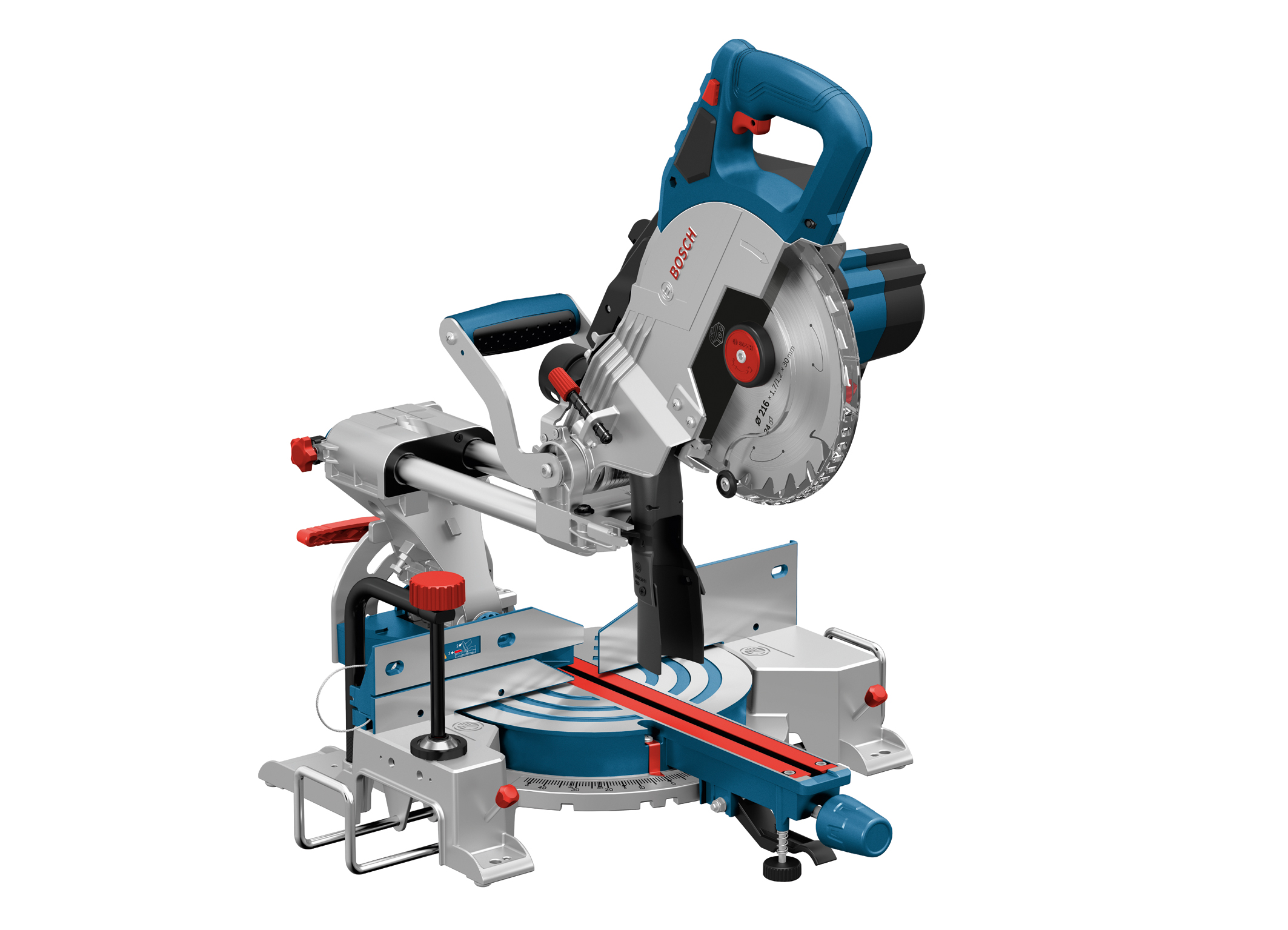 Powerful tool for mobile use:  Cordless GCM 18V-216 Professional sliding miter saw from Bosch for professionals