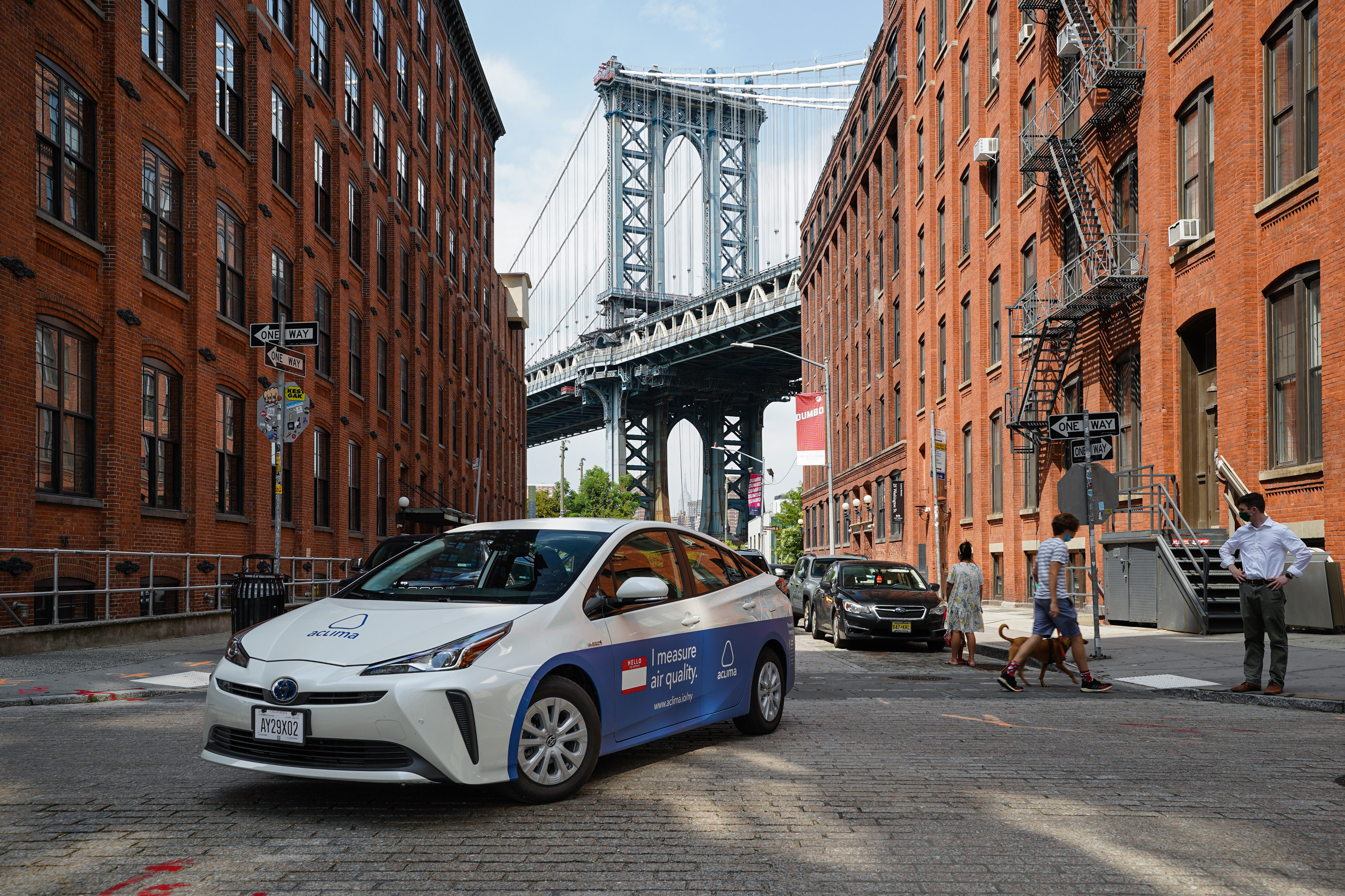 Aclima's vehicle measuring air quality in Brooklyn, New York City