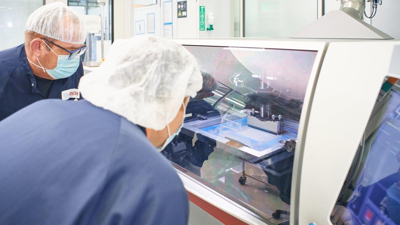Fertigung von Festoxid-Brennstoffzellen am Bosch-Standort in Bamberg