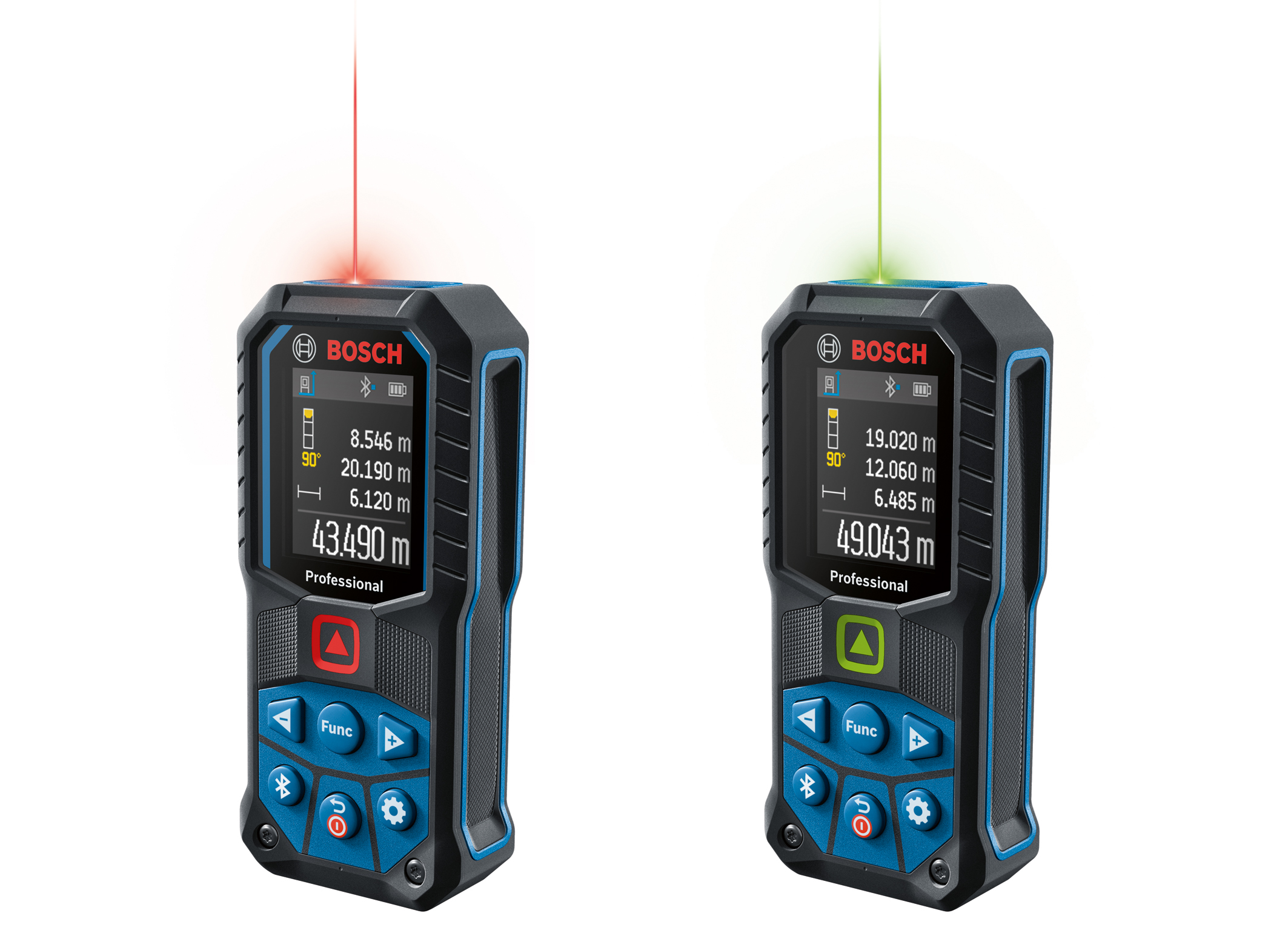 Accurate measuring, easy reading, wireless transfer: Robust laser measures from Bosch for Professionals