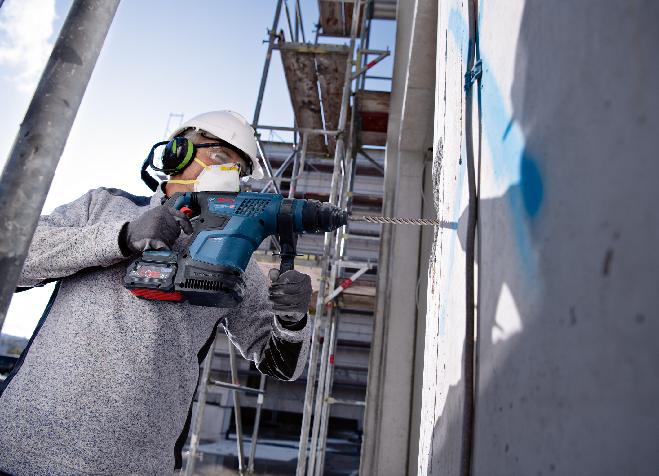 More power than ever for drilling and chiseling: New Biturbo hammer from Bosch for professionals