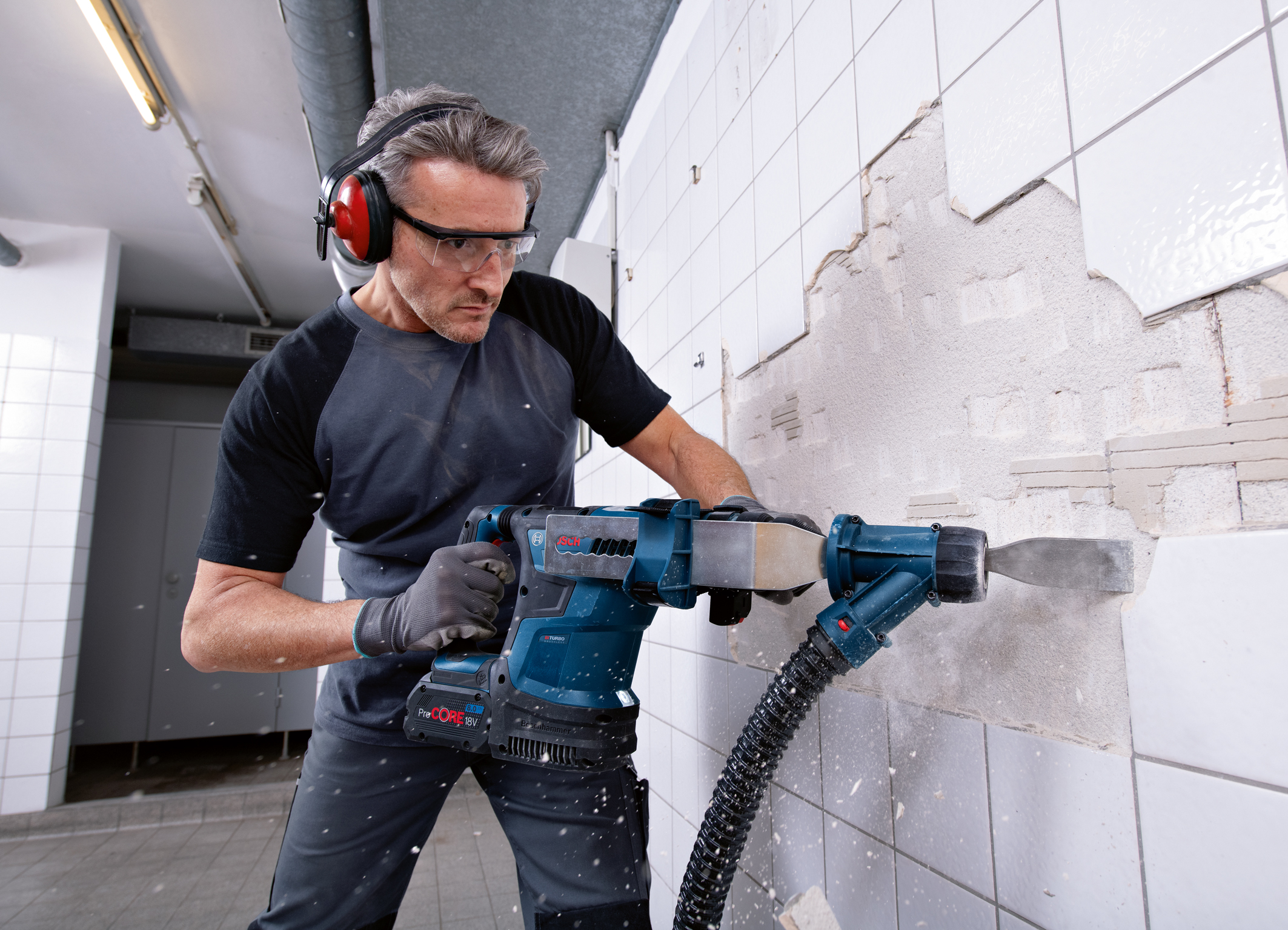 Optimized control and setting via User Interface and connectivity: New Biturbo hammer from Bosch for professionals