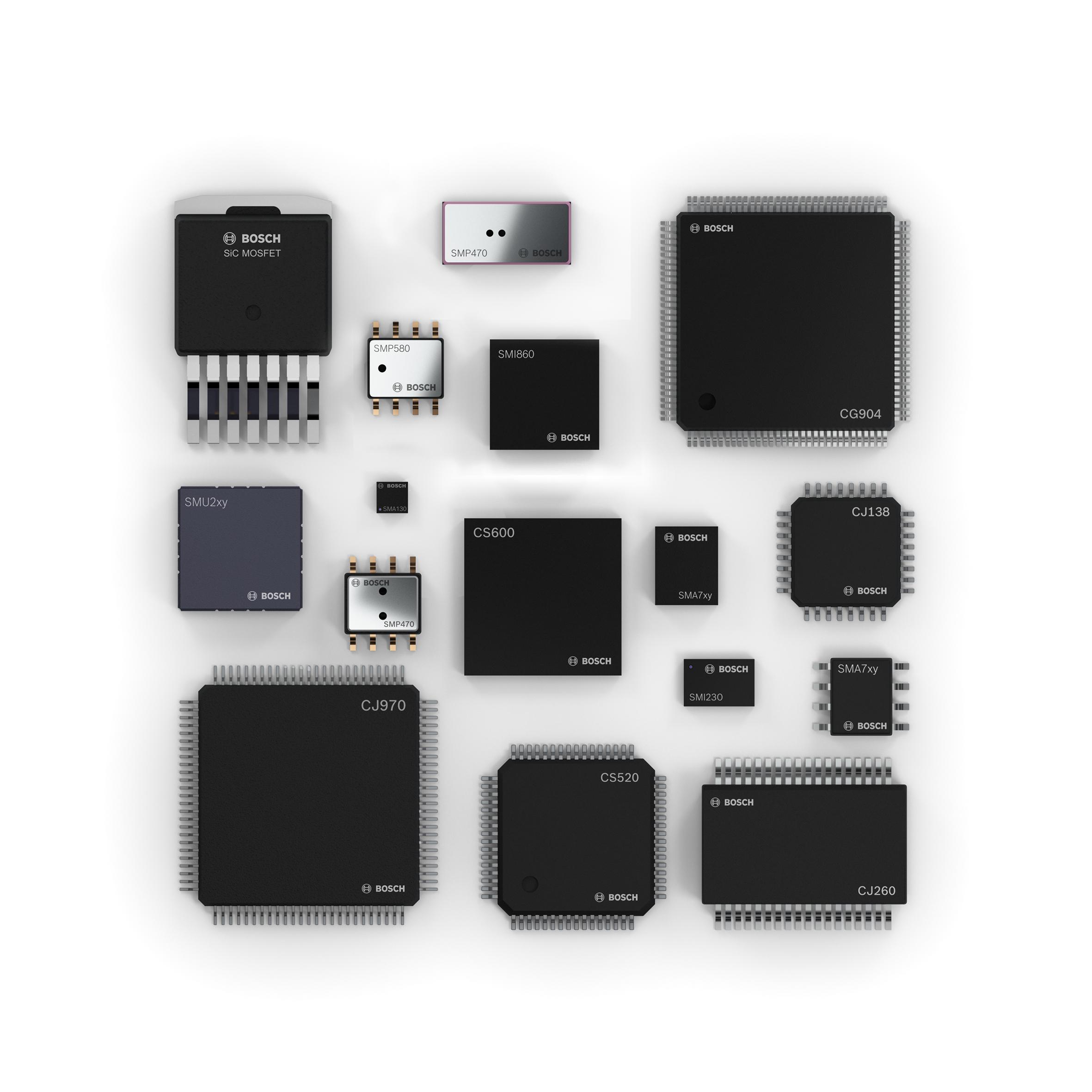 Halbleiterportfolio von Bosch