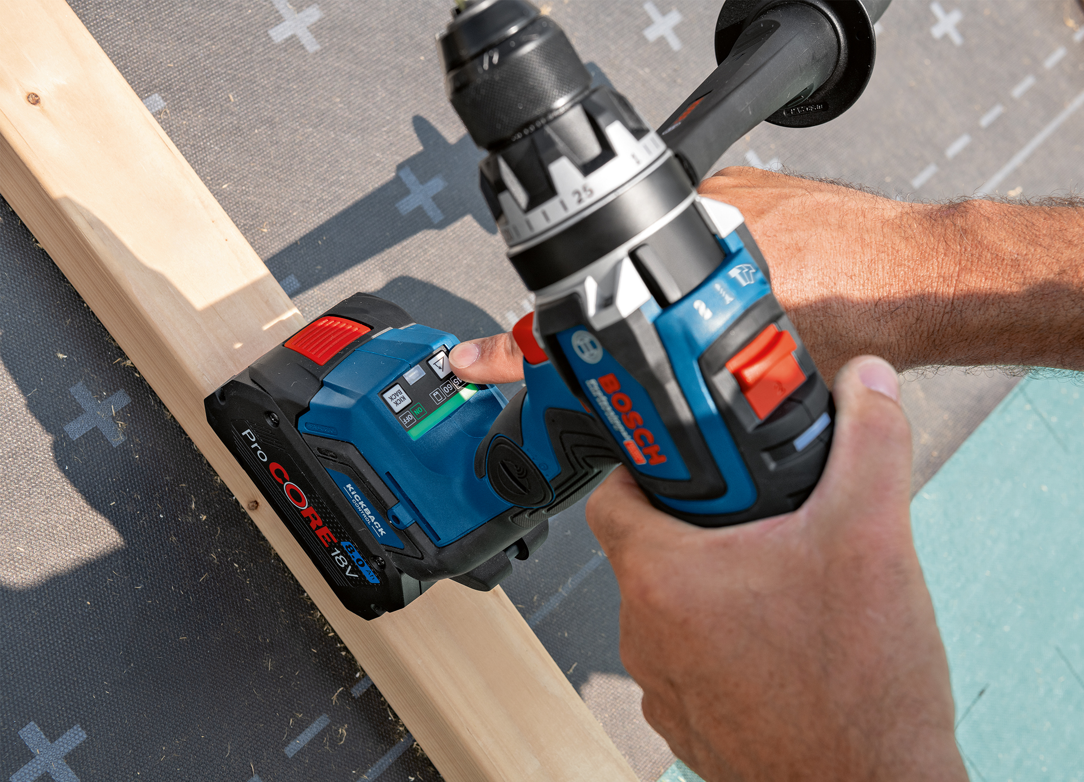 More control than ever due to user interface and connectivity: First Biturbo drill drivers from Bosch for pros