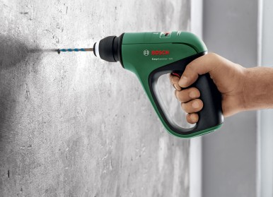 Pneumatic hammer mechanism for quick and easy drilling in concrete: Bosch EasyHa ...
