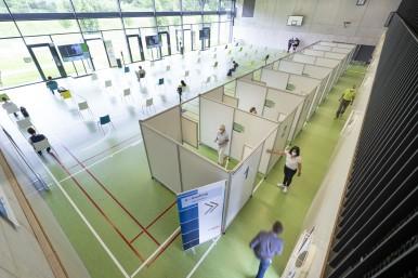 Bosch betreibt Covid-19 Impfzentrum auf dem Gelände seines Forschungscampus Renningen