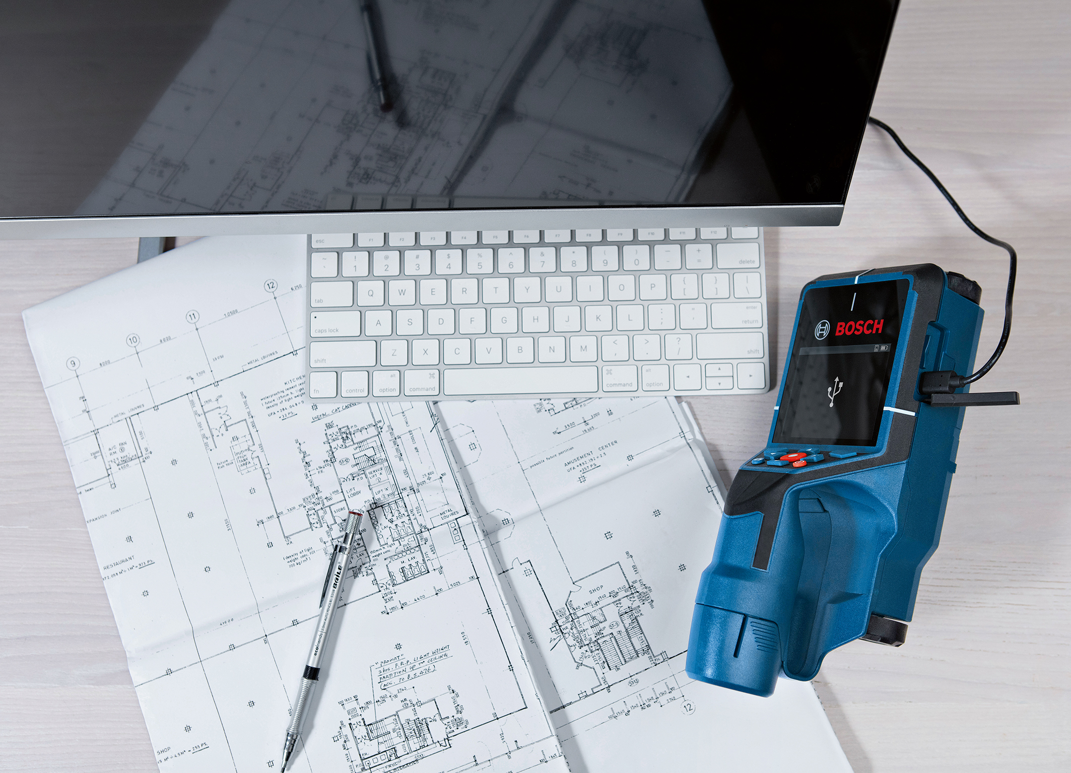 Documentation via a screenshot and data transmission to a PC: The Bosch D-tect 200 C Professional for pros