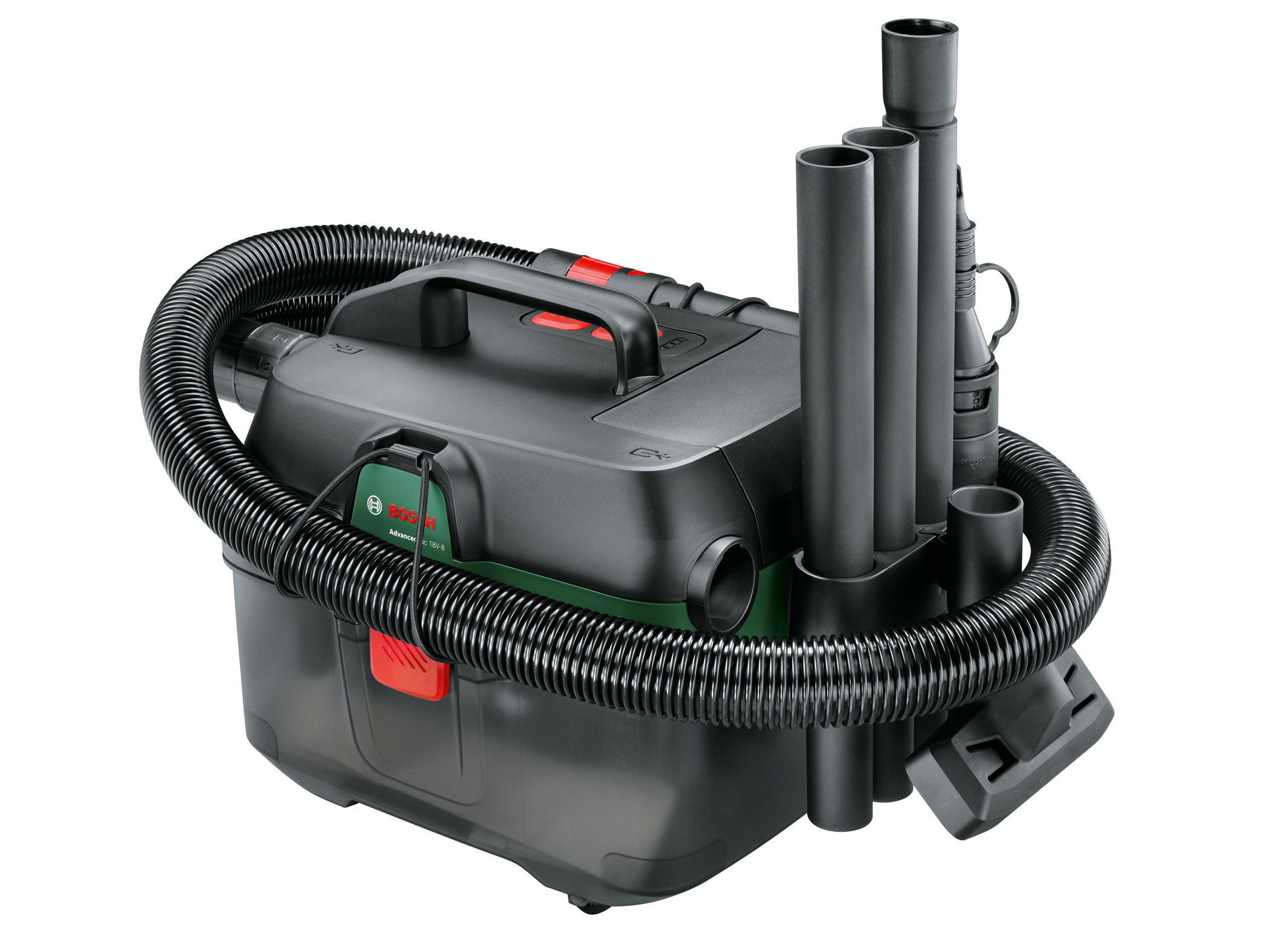 Erster Akku-Nass-/Trockensauger im Heimwerker-Sortiment: Mobiles 3-in-1-Multitalent AdvancedVac 18V-8 von Bosch