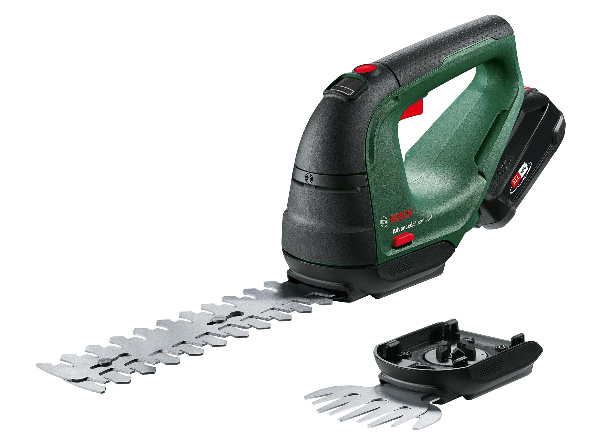 Kompakt und präzise für die Strauch- und Graspflege: AdvancedShear 18V-10 von Bosch für Hobbygärtner