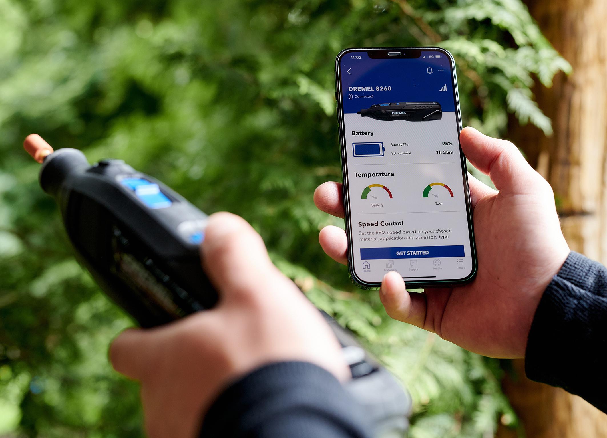 Erstmals mit App für noch mehr Funktionen und Services: Dremel 8260 – längere Laufzeit und Lebensdauer denn je