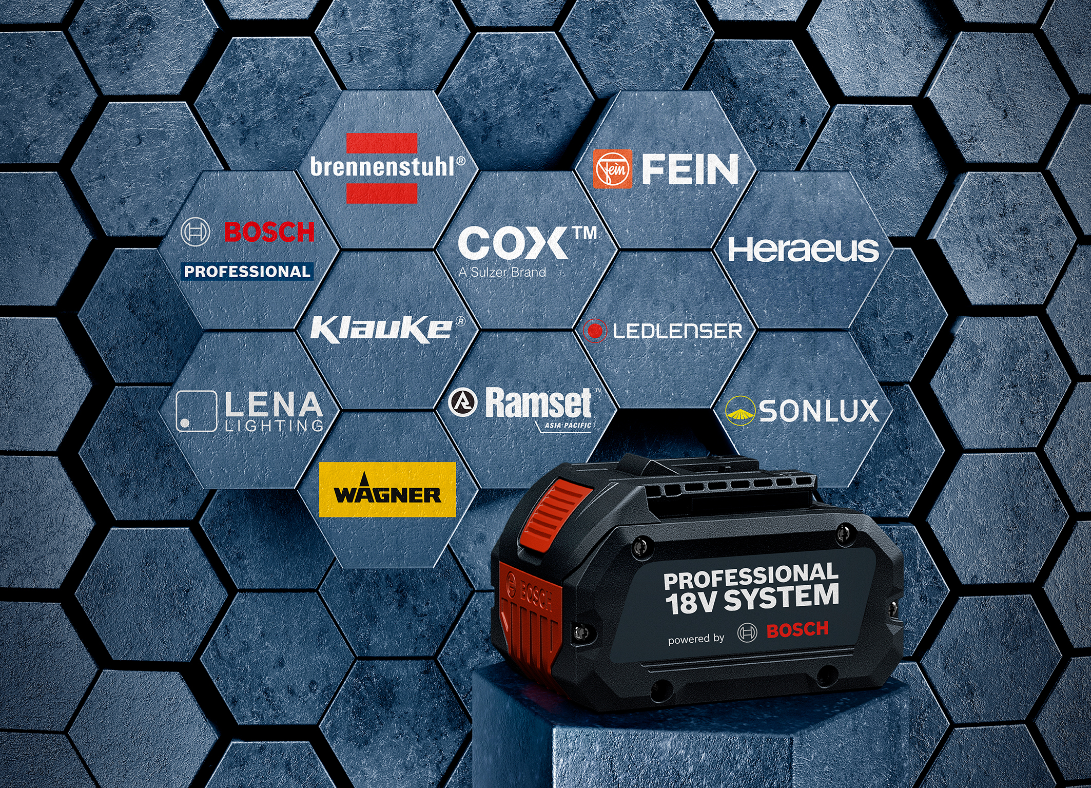 Fein and Heraeus extend range of applications: Further expansion of the Bosch Professional 18V System
