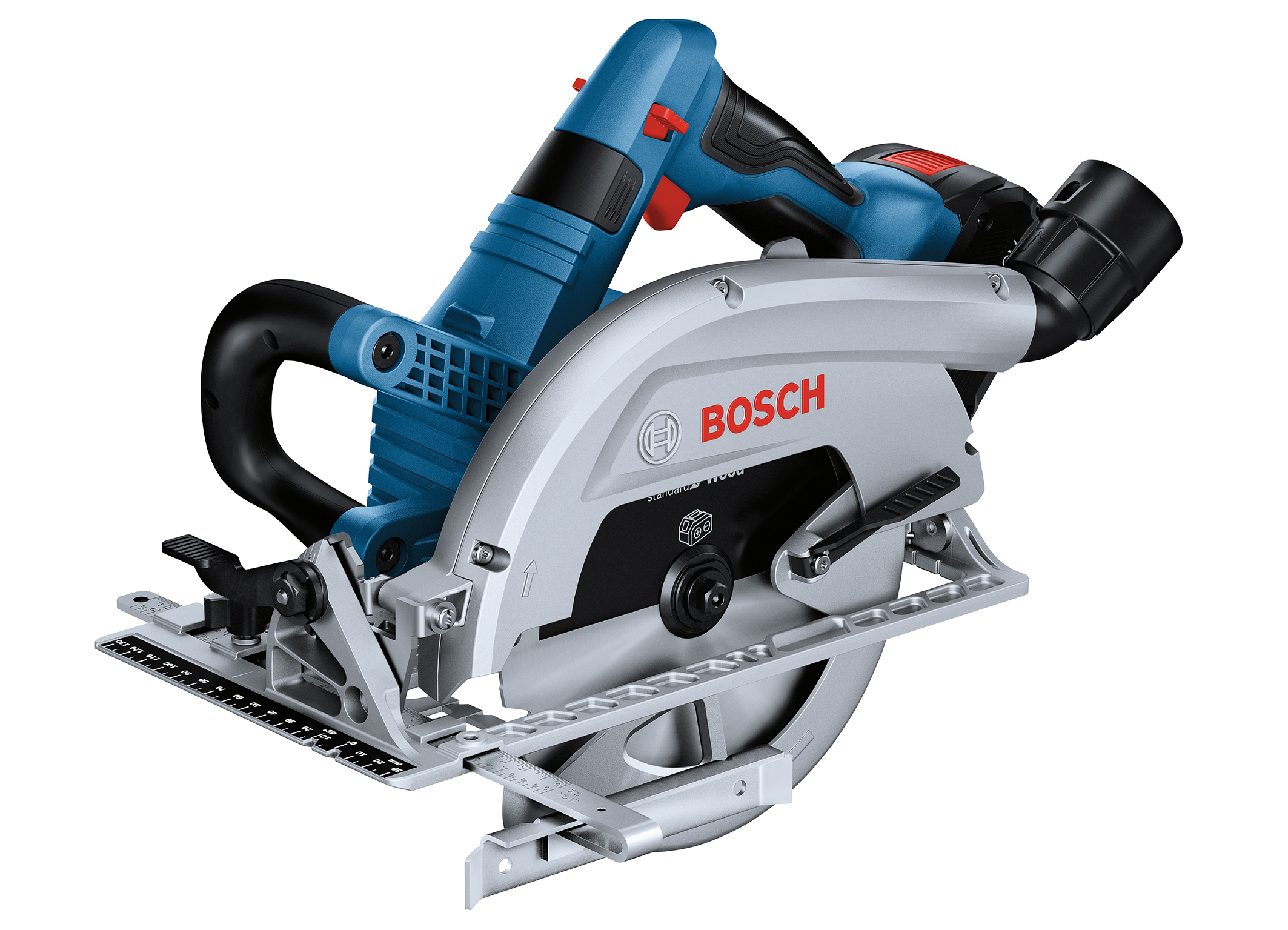 Now with saw blade on the left: Biturbo hand-held circular saw GKS 18V-70 L Professional from Bosch for pros