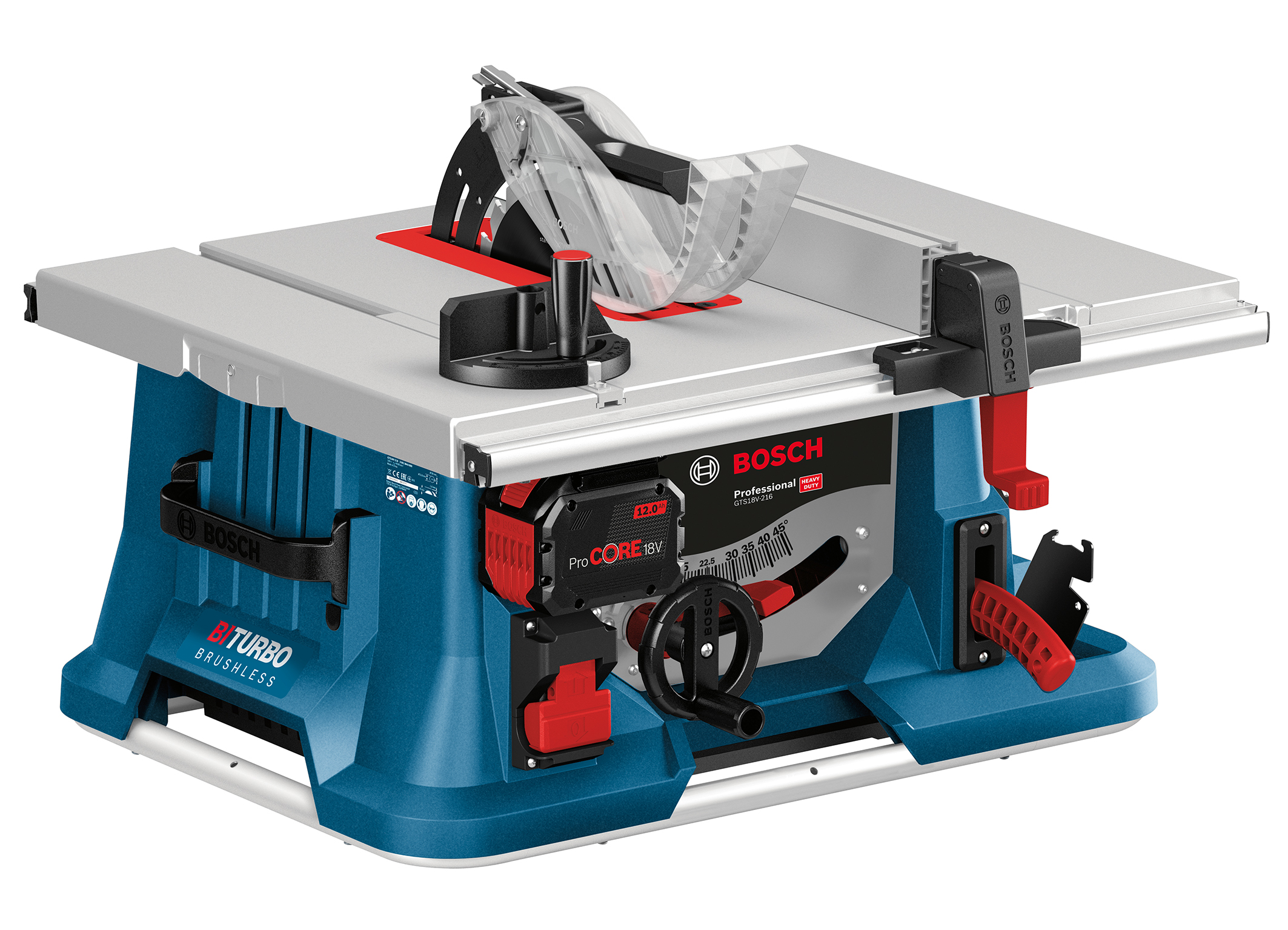 The first cordless table saw in the range: Biturbo table saw GTS 18V-216 Professional from Bosch for pros