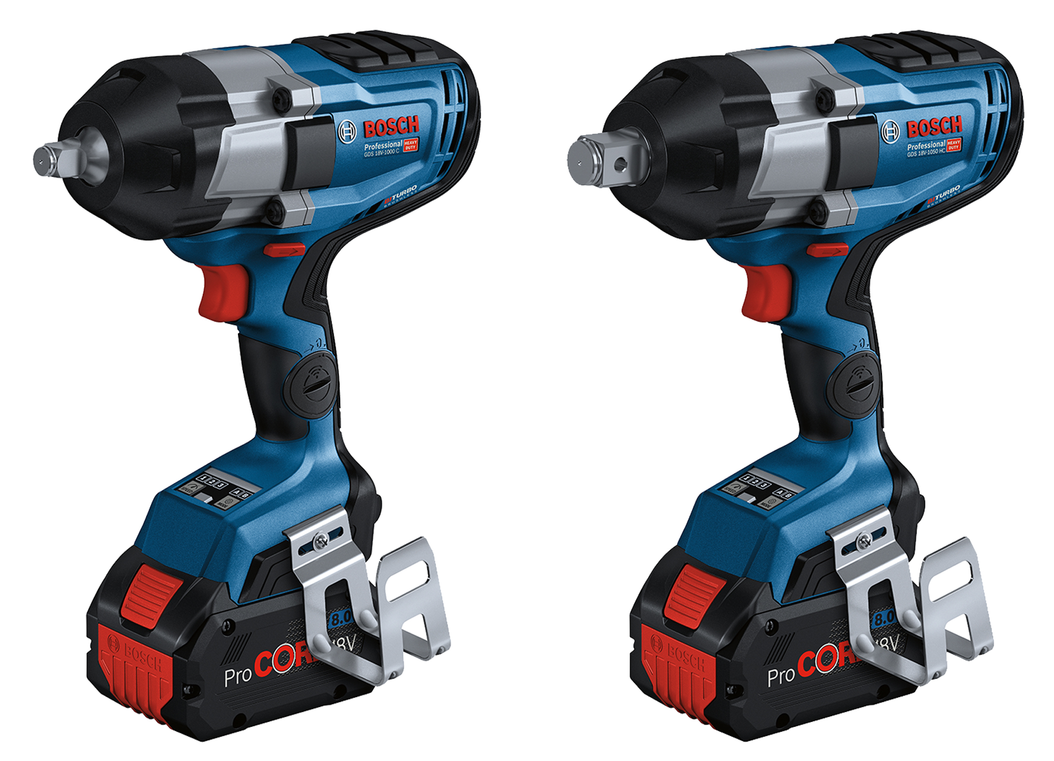 Now with user interface and connectivity: Biturbo impact wrenches from Bosch for pros