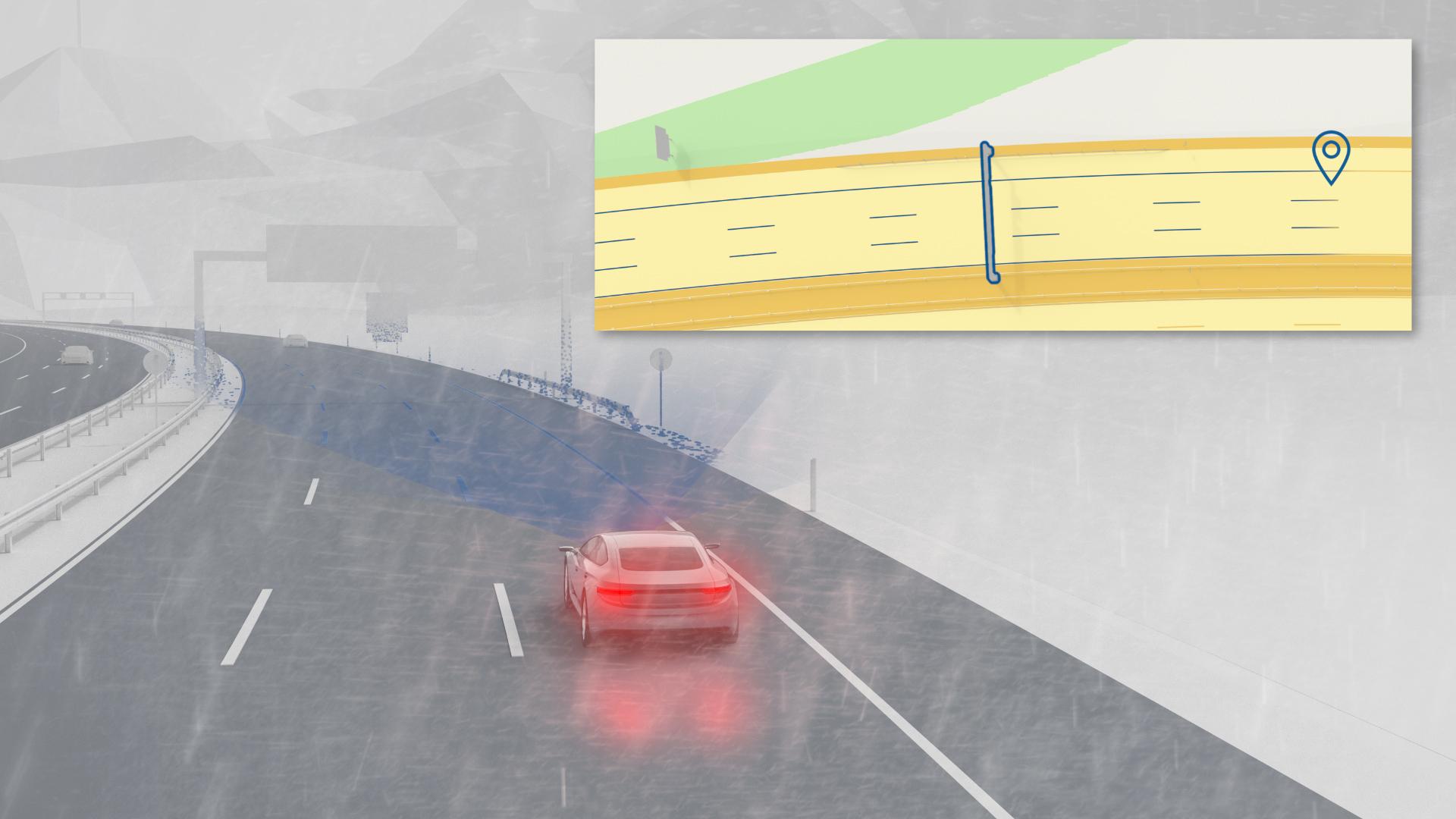 Bosch Straßensignatur ermöglicht eine hochgenaue Eigenlokalisierung