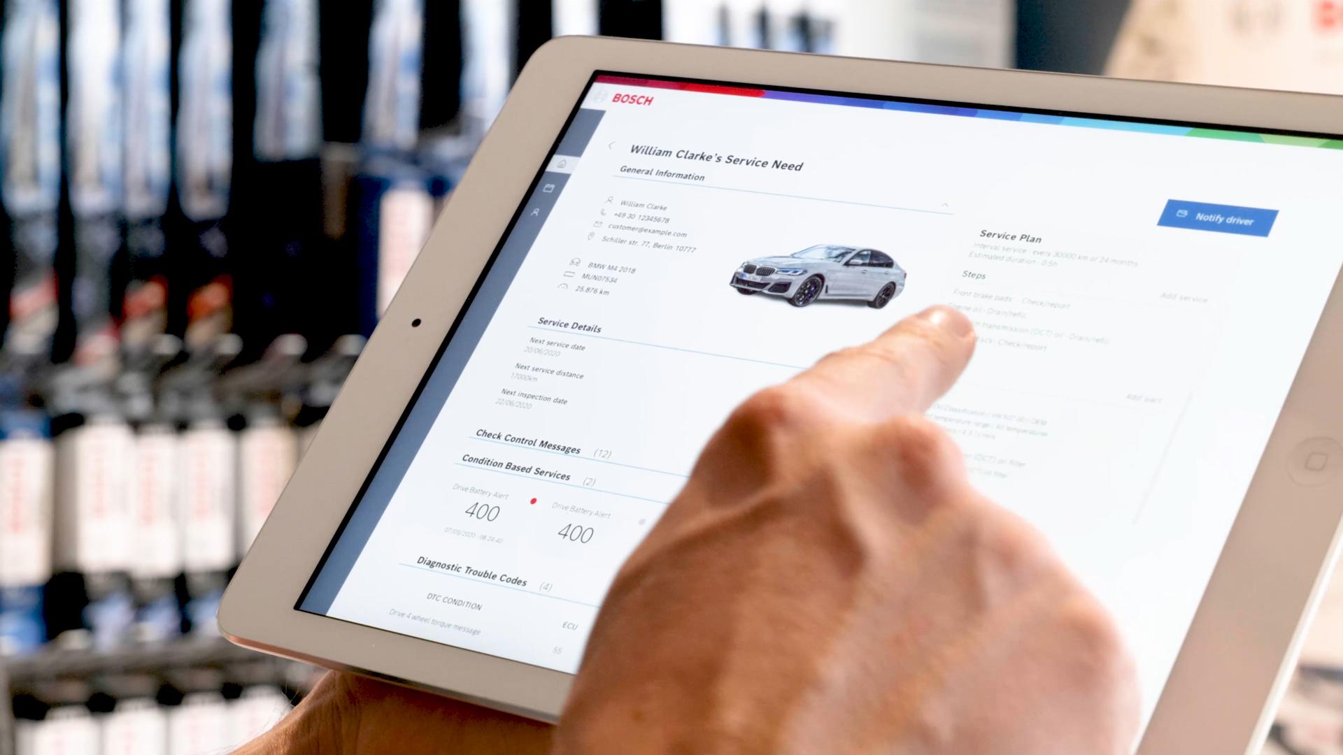 FNOS übermittelt automatisch alle wichtigen Fahrzeugdaten zum Service