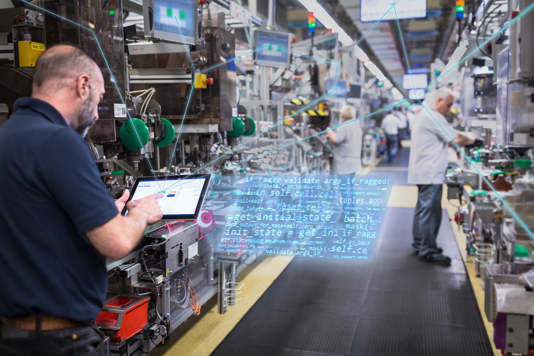 Vernetzung in den Bosch-Werken